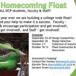 1st Ever DCP Homecoming Float: Call for Participation