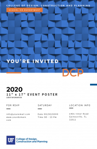 """11"""" x 17"""" EVENT POSTER"""